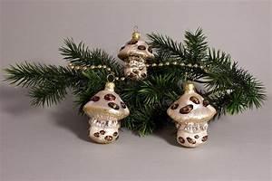 Weihnachtskugeln Aus Lauscha : 3 pilze eis champagner mit braun christbaumkugeln ~ Orissabook.com Haus und Dekorationen