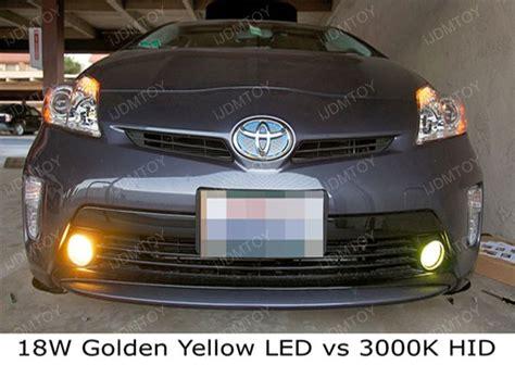 toyota venza fog light assembly 3k jdm yellow 18w high power led fog lights foglights