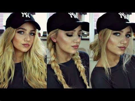 instagram baddie hair tutorial  baseball cap