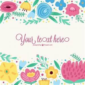 Plantilla vectorial con flores de colores Descargar Vectores gratis