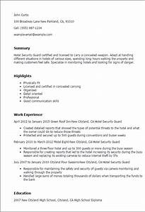 hotel security guard resume template best design tips With how to write a resume for security guard job