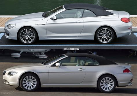 bmw 6er cabrio bildvergleich das neue bmw 6er cabrio f12 und sein