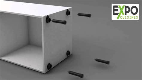montage meuble colonne four 200x60 avec 2 portes
