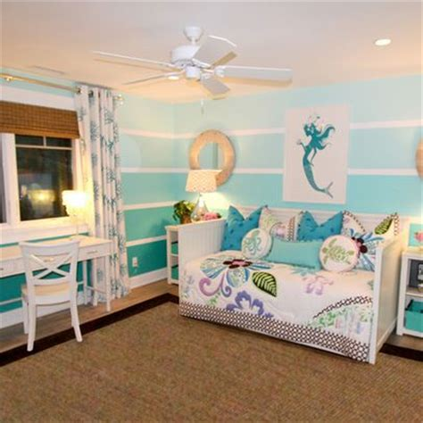 bonanza mermaid themed bedroom decorating ombre wall paint design ideas pictures remodel and