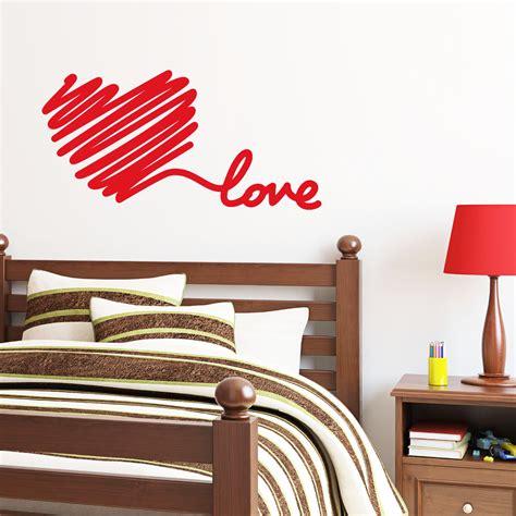 stickers de chambre stickers muraux pour chambre sticker mural amour de