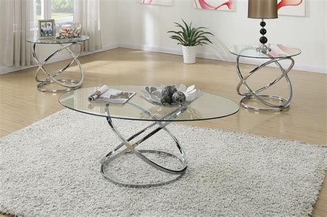 silver glass coffee table poundex f3087 silver glass coffee table set steal a sofa