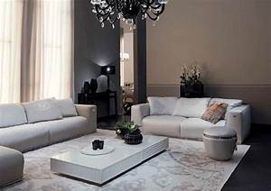 Living Room With Sofa Chairs
