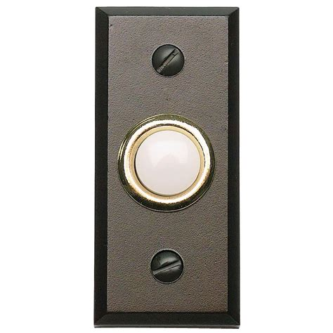 wired round bell button door bells oil rubbed bronze