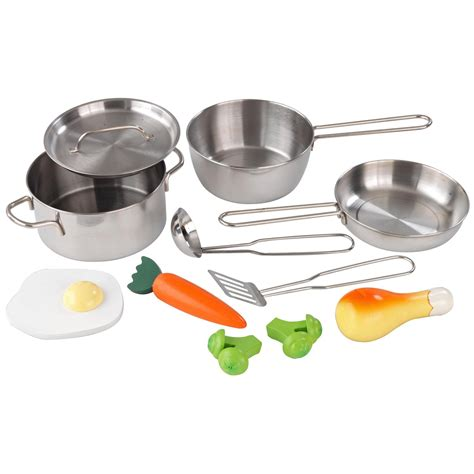 ustensil de cuisine kidkraft metal accessories set 63186 play kitchen