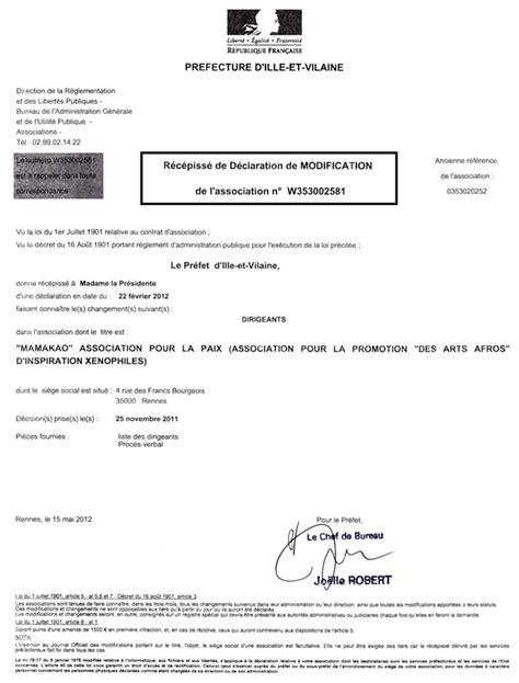 d馗laration changement bureau association declaration changement bureau association 28 images le