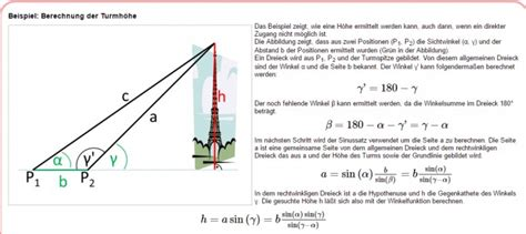 dreieck zeichnen um turmhoehe zu berechnen mathelounge