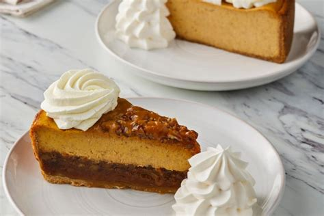 Pumpkin cheesecake when i was young we produced several ingredients for this longtime favorite on the farm. Pumpkin Cheesecakes at The Cheesecake Factory • The Americana at Brand