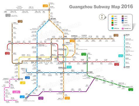 guangzhou subway map  clear  enlargable