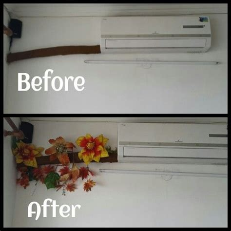 simple great hiding split ac pipe creativity