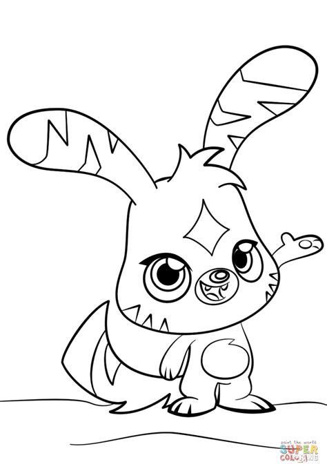 Moshi Monsters Katsuma coloring page Free Printable