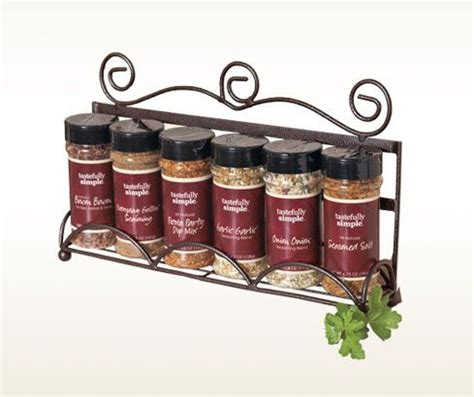 Complete Spice Rack by Six Seasonings Complete With A Beautiful Spice Rack Item