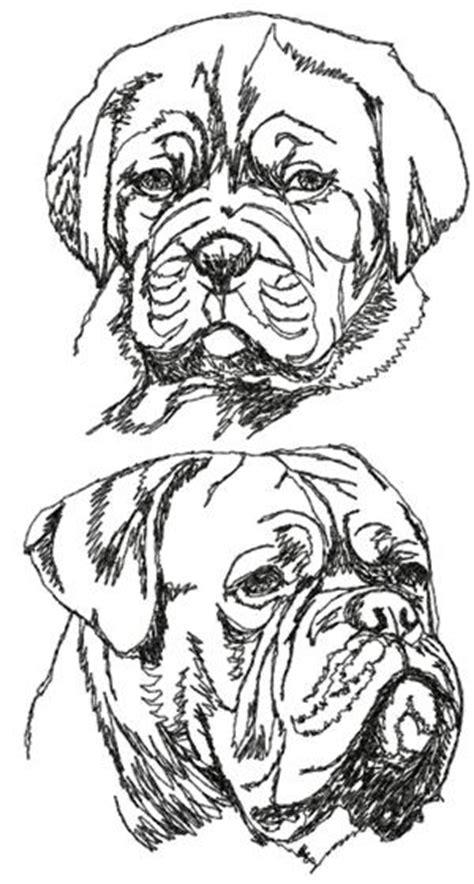 advanced embroidery designs french mastiff set dogue de