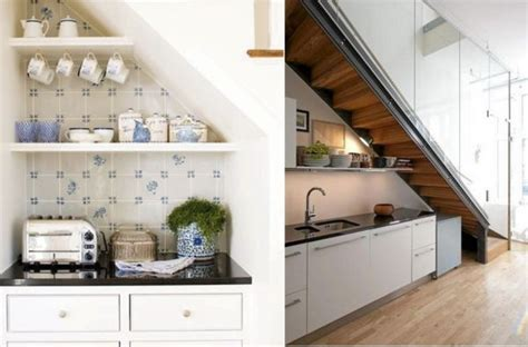 coin cuisine avec banquette aménagement sous escalier 60 idées dingues du placard à