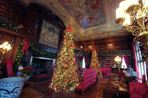 library  biltmore house  christmas decorations