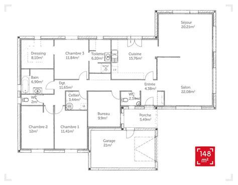 reve de cuisine plan maison plain pied 150m2 plans de maisons