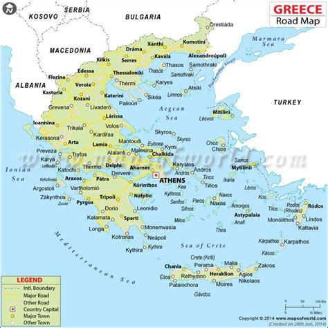 greece road map maps pinterest road maps maps
