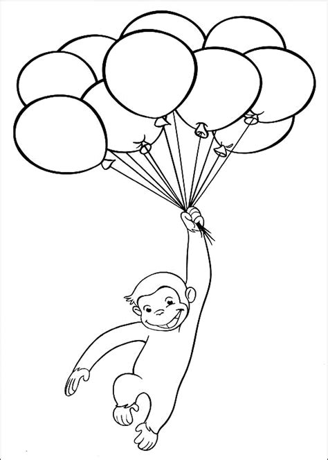 Curious George Coloring Pages Printable Printable