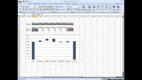waterfall chart  excel youtube