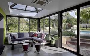veranda cuisine grand confort veranda alu With charming photo amenagement terrasse exterieur 14 deco salon et cuisine ouverte