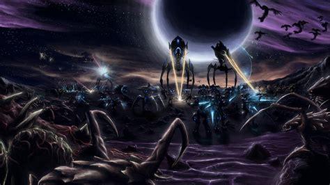 starcraft ii protoss zerg terran wallpapers hd