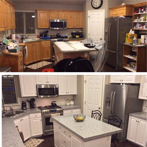 Kitchen Paint Ideas Oak Cabinets - diy painting kitchen cabinets white youtube