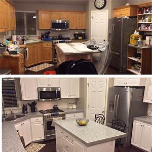 How to redoing kitchen cabinets theydesignnet for What kind of paint to use on kitchen cabinets for va sticker