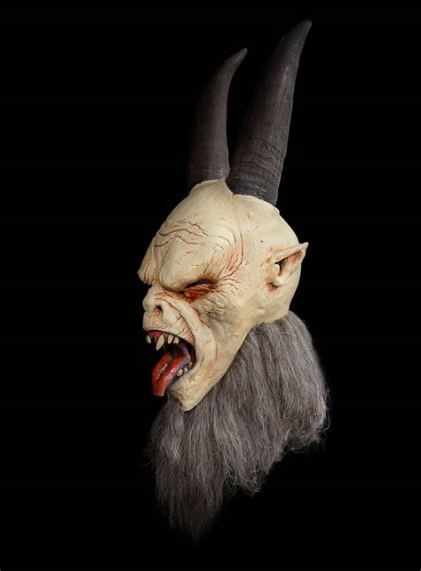 krampus latex full mask maskworldcom
