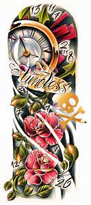 timeless tattoo sleeve   Commission - timeless color by ...
