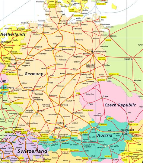 map  france  germany  cities  travel