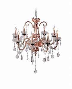 Paul neuhaus gracia traditional copper chandelier