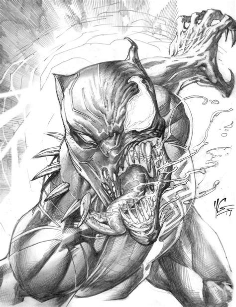 Black Panther Venomized by yvelguichetart | Marvel drawings, Art sketches, Black panther marvel