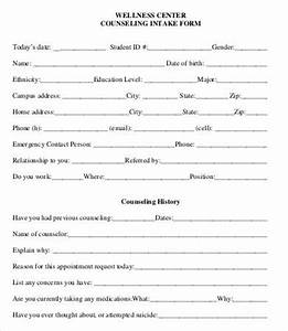 intake form template 10 free pdf documents download With psychotherapy intake form template