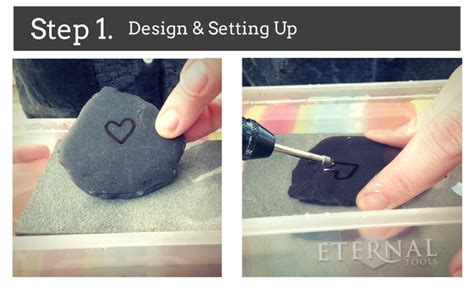 how to carve hearts in pebbles sea glass