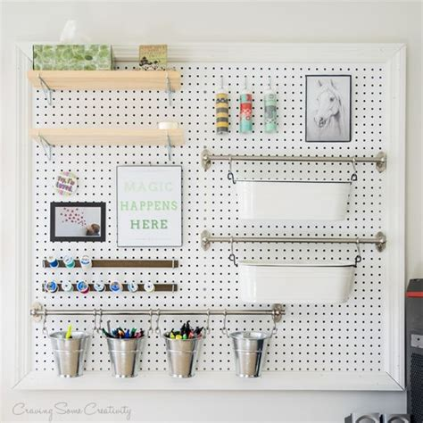 pegboard accessories for office 32 smart and practical pegboard ideas for your home digsdigs