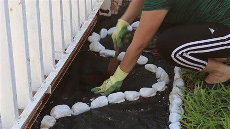 jardineria como decorar el jardin  piedras  plantas