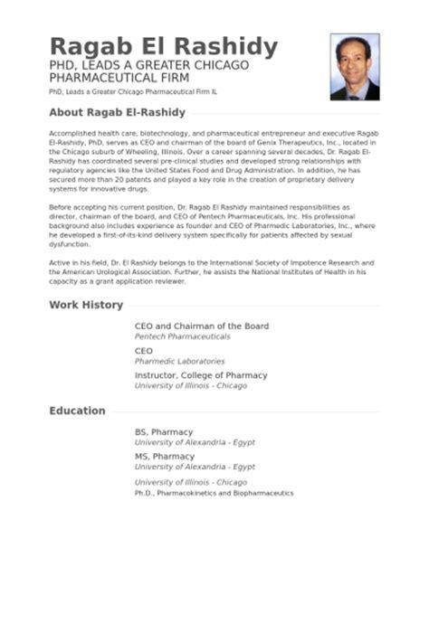 board of director resume