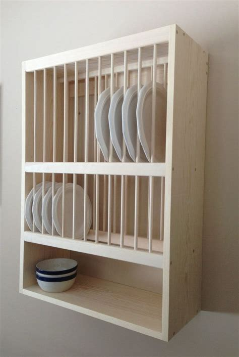 wooden wall mounted plate rack woodworking projects plans