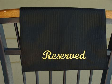 reserved sign for chair or pew
