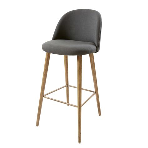 maison du monde chaise de bar chaise de bar vintage gris anthracite et frêne mauricette maisons du monde