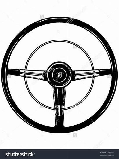Steering Wheel Clipart Retro Vector Illustration Shutterstock