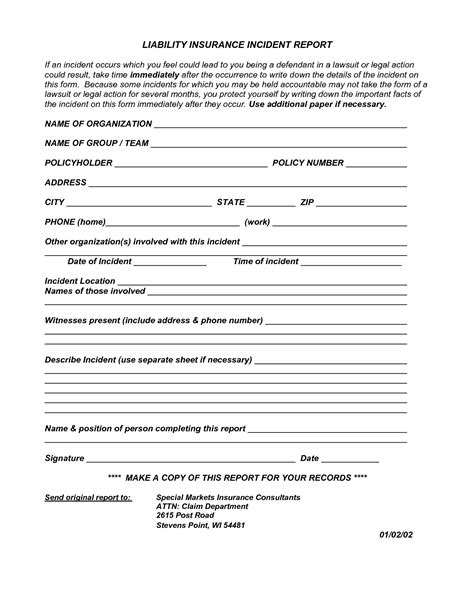 general incident report form template best photos of general incident report incident report form template general