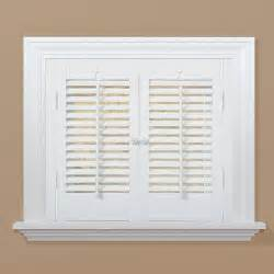 window shutters interior home depot homebasics traditional faux wood white interior shutter price varies by size qsta2332 the
