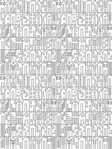 My House Wallpaper in Charcoal by Sissy + Marley for Jill ...
