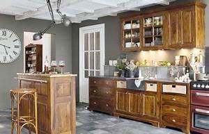 Quelle Couleur De Mur Avec Des Meubles En Chene : donner un coup de fraicheur a une cuisine de style ancien ~ Nature-et-papiers.com Idées de Décoration