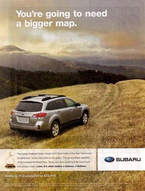 Subaru Car Ads by Car Ads In Magazines 2010 Subaru Outback Magazinead